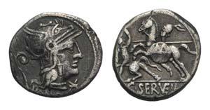 C. Servilius Vatia, Rome, 127 BC. AR ...