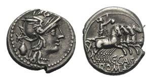 C. Cassius, Rome, 126 BC. AR Denarius ...