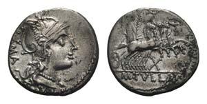 M. Tullius, Rome, 119 BC. AR Denarius ...