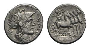 Cn. Domitius Ahenobarbus, Rome, 116-115 BC. ...