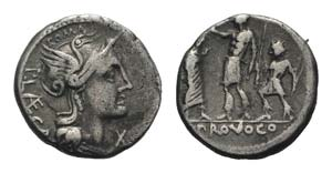 P. Laeca, Rome, 110-109 BC. AR Denarius ...