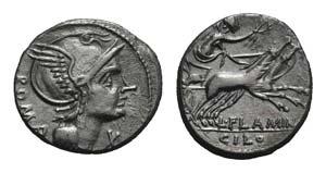 L. Flaminius Chilo, Rome, 109-108 BC. AR ...