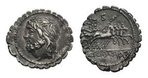 L. Scipio Asiagenus, Rome, 106 BC. AR ...