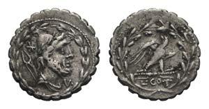 Lucius Aurelius Cotta, Rome, 105 BC. AR ...