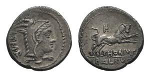 L. Thorius Balbus, Rome, c. 105 BC. AR ...
