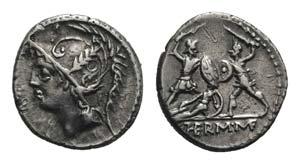 Q. Minucius Thermus M. f. Roma, 103 BC. AR ...