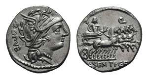 L. Sentius C.f., Rome, 101 BC. AR Denarius ...