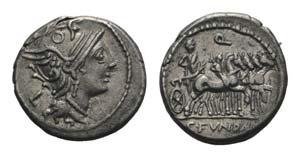 C. Fundanius, Rome, 101 BC. AR Denarius ...