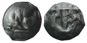 Umbria, Tuder, c. 220-200 BC. Cast Æ Semis ...