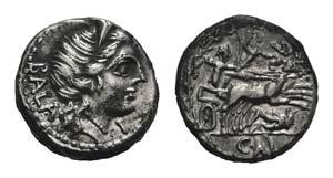 C. Allius Bala, Rome, 92 BC. AR Denarius ...