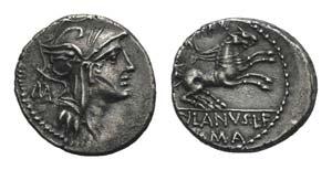 D. Silanus L.f., Rome, 91 BC. AR Denarius ...