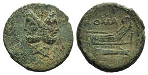 Anonymous, Rome, c. 91 BC. Æ As (28mm, ...