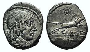 C. Censorinus, Rome, 88 BC. AR Denarius ...
