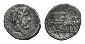 L. Rubrius Dossenus, Rome, 87 BC. AR ...