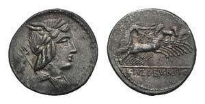 L. Julius Bursio, Rome, 85 BC. AR Denarius ...