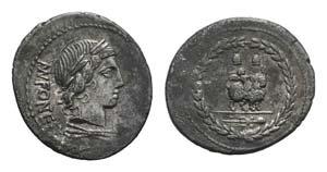 Mn. Fonteius C.f., Rome, 85 BC. AR Denarius ...