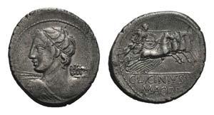 C. Licinius L.f. Macer, Rome, 84 BC. AR ...