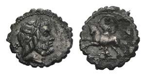 L. Volteius L.f. Strabo, Rome, 81 BC. AR ...
