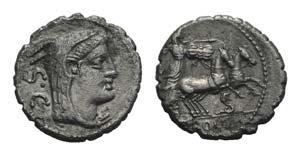 L. Procilius, Rome, 80 BC. AR Serrate ...