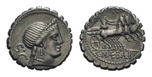 C. Naevius Balbus, Rome, 79 BC. AR Serrate ...