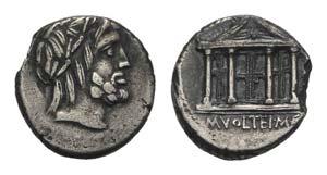 M. Volteius M.f., Rome, 78 BC. AR Denarius ...