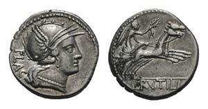 L. Rutilius Flaccus, Rome, 77 BC. AR ...