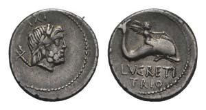 L. Lucretius Trio, Rome, 74 BC. AR Denarius ...