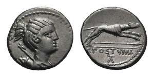 C. Postumius, Rome, 73 BC. AR Denarius ...