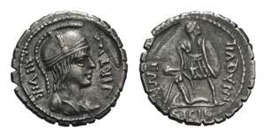 Mn. Aquillius Mn.f. Mn.n., Rome, 71 BC. AR ...
