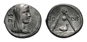 P. Sulpicius Galba, Rome, 69 BC. AR Denarius ...