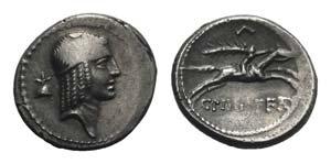 C. Piso L.f. Frugi, Rome, 61 BC. AR Denarius ...