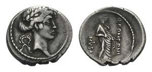 Q. Pomponius Musa, Rome, 56 BC. AR Denarius ...