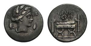 L. Furius Cn.f. Brocchus, Rome, 63 BC. AR ...