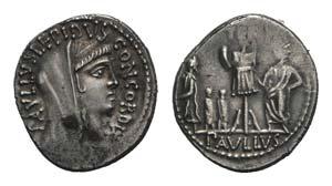 L. Aemilius Lepidus Paullus, Rome, 62 BC. AR ...