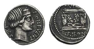 L. Scribonius Libo, Rome, 62 BC. AR Denarius ...