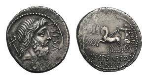 P. Plautius Hypsaeus, Rome, 57 BC. AR ...