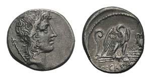 Q. Cassius Longinus, Rome, 55 BC. AR ...