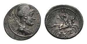 P. Fonteius P.f. Capito, Rome, 55 BC. AR ...