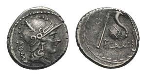 Roman Imperatorial, T. Carisius, Rome, 46 ...