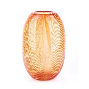 VEART - MURANO  Orange vase, 1982 ...