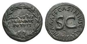 Augustus (27 BC-AD 14). Æ Dupondius (27mm, ...
