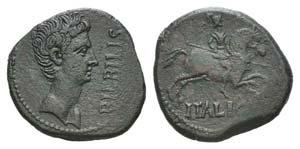 Augustus (27 BC-AD 14). Spain, Bilbilis. Æ ...