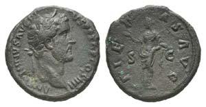 Antoninus Pius (138-161). Æ As (27mm, ...