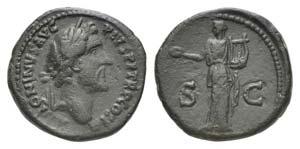 Antoninus Pius (138-161). Æ As (26.5mm, ...