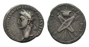 Nero Claudius Drusus (died 9 BC). AR ...