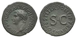 Drusus (Caesar, 19-23). Æ As (31mm, 10.27g, ...