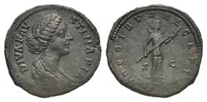 Diva Faustina Junior (died 175/6). Æ ...