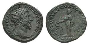 Marcus Aurelius (161-180). Æ Dupondius ...