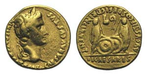 Augustus (27 BC-AD 14). AV Aureus (19mm, ...