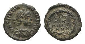 Gratian (367-383). Æ (12mm, 0.92g, 12h). ...